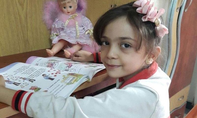الطفلة السورية المحاصرة بانا العبد - (تويتر)