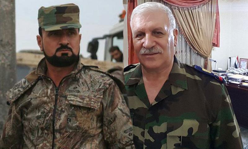 اللواء أديب سلامة إلى جانب العقيد سهيل الحسن (عنب بلدي)