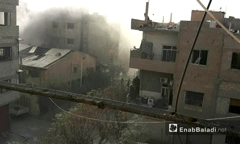 آثار القصف على مدينة دوما في الغوطة الشرقية - 21 تشرين الثاني 2016 (عنب بلدي)