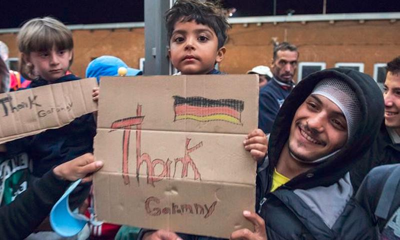 لاجئون سوريون في ألمانيا - 2015 (أرشيفية من الإنترنت)