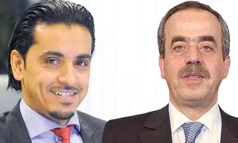 غسان شربل (يمين) وسلمان الدوسري