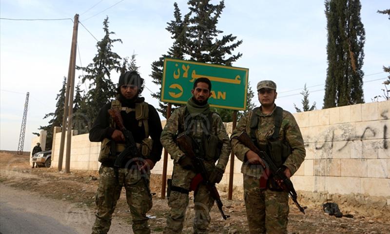 """مقاتلون من """"الجيش الحر"""" شمال حلب - 15 تشرين الثاني (وكالة الأناضول)"""