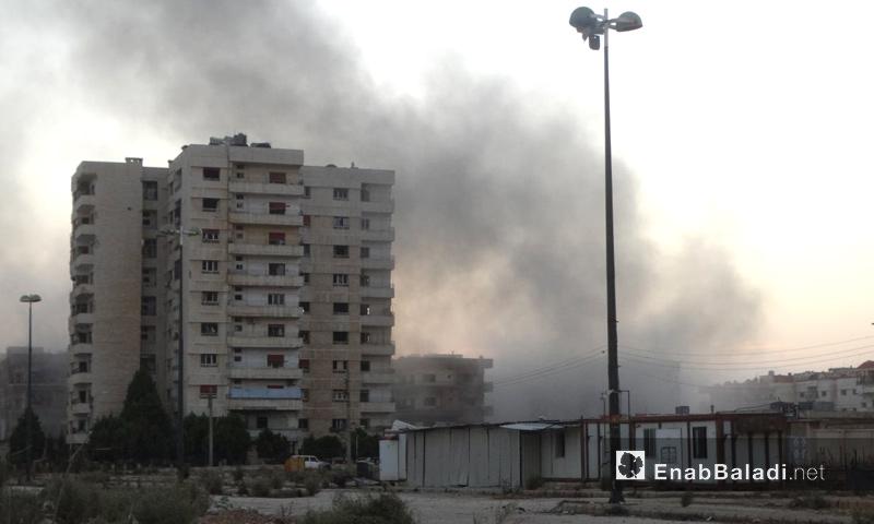 آثار القصف على حي الوعر في حمص - 15 تشرين الثاني 2016 (عنب بلدي)