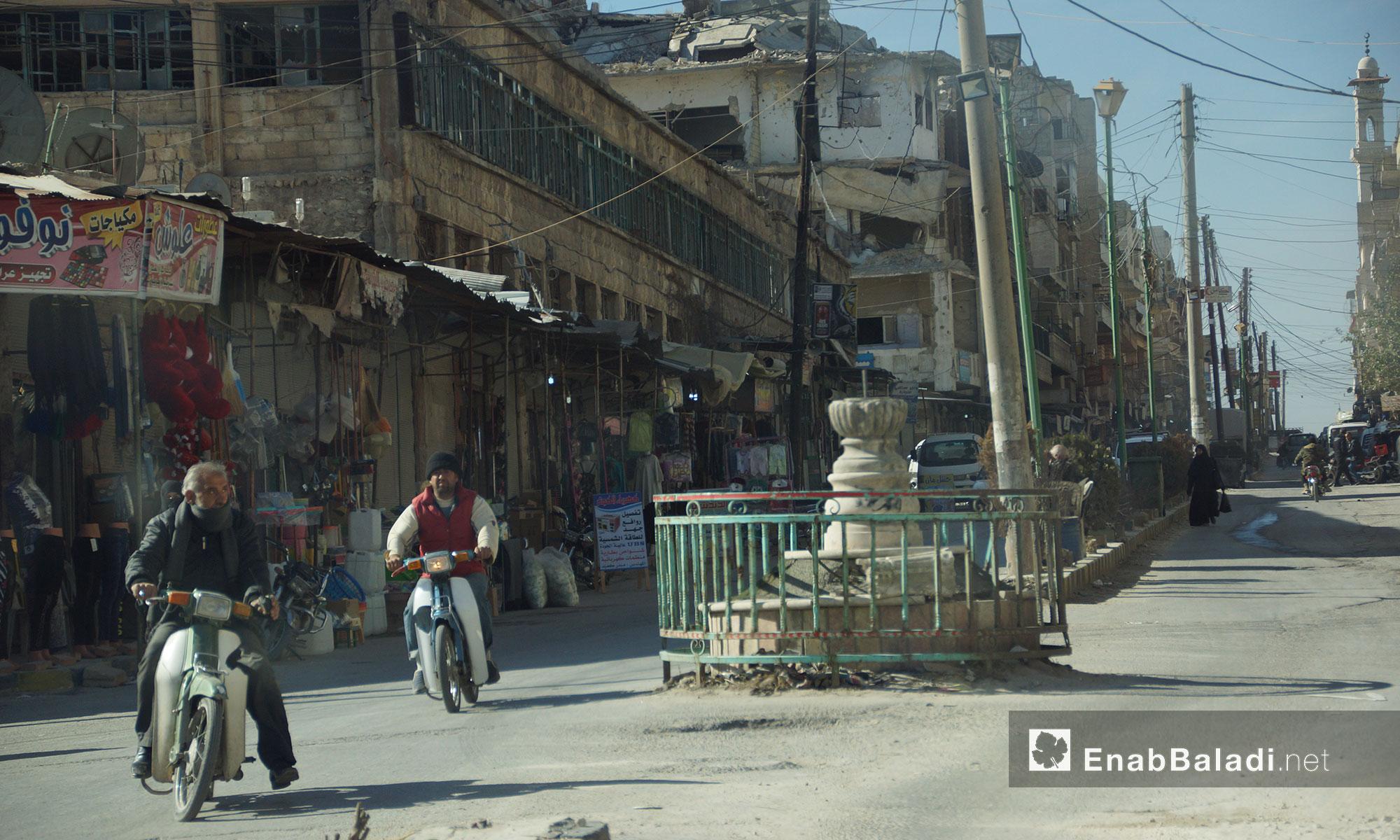 أحد أحياء معرة النعمان ريف إدلب الجنوبي - 24 تشرين الثاني 2016 (عنب بلدي)