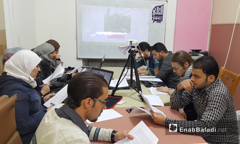 """""""اليوم التالي"""" في الغوطة الشرقية تناقش الاختفاء القسري - 12 تشرين الأول 2016 (عنب بلدي)"""
