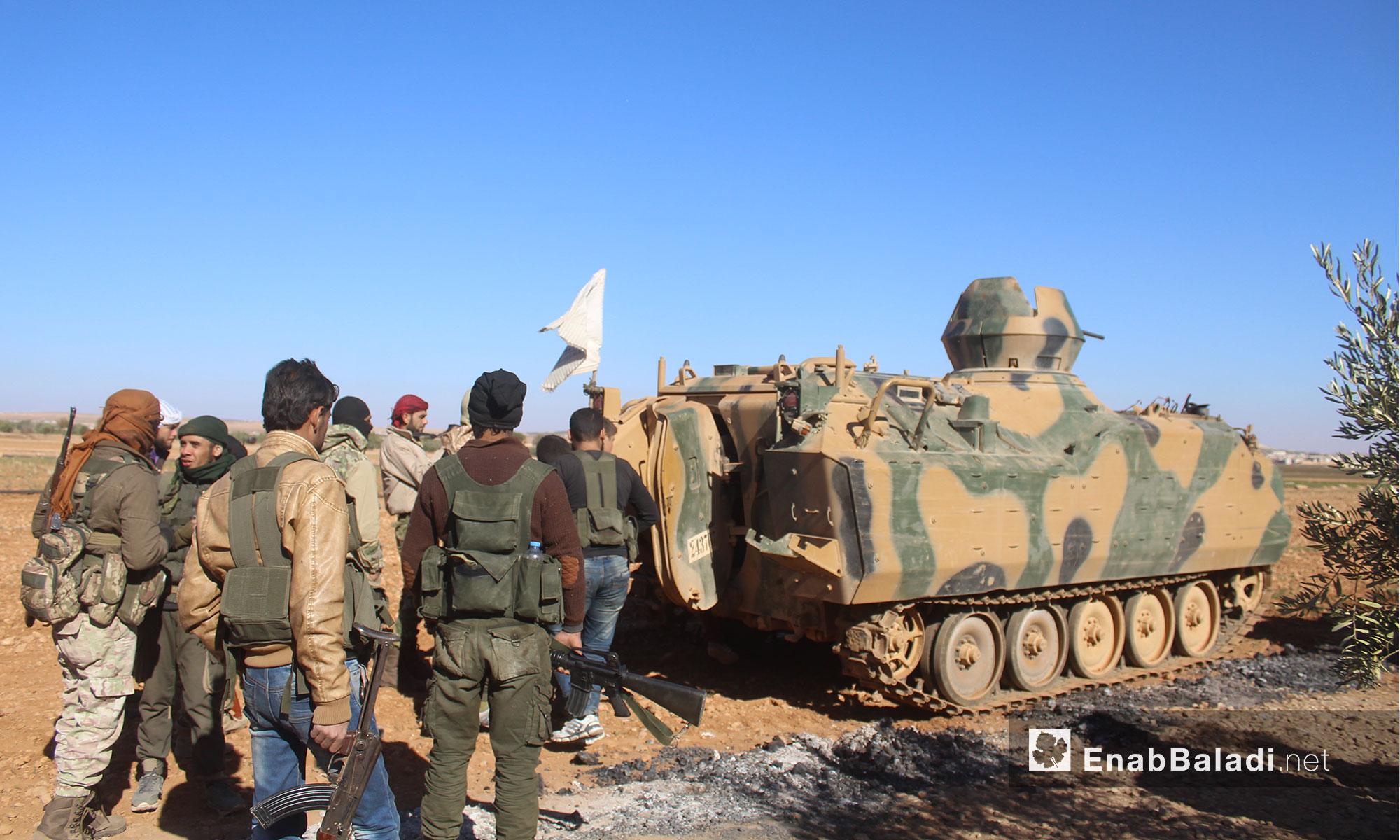 من معارك درع الفرات على أطراف بلدة قباسين والباب بريف حلب الشرقي - 29 تشرين الثاني 2016 (عنب بلدي)