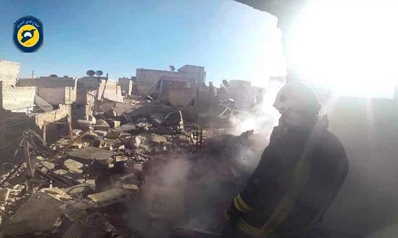 آثار القصف على مدينة حلب - 17 تشرين الثاني 2016 (الدفاع المدني في حلب )