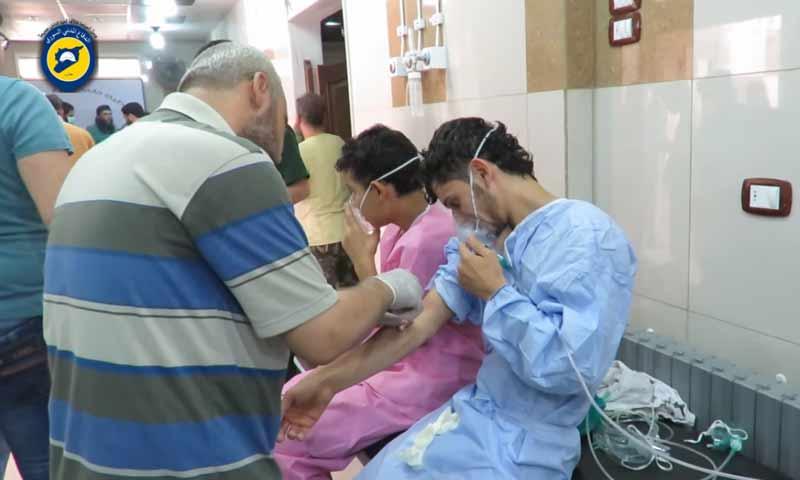 مصابون بغاز الكلور في حي السكري بحلب - أيلول 2016 (يوتيوب)