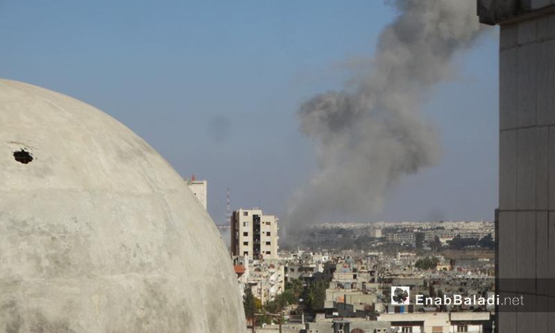 آثار القصف على حي الوعر في حمص - 17 تشرين الثاني 2016 (عنب بلدي)