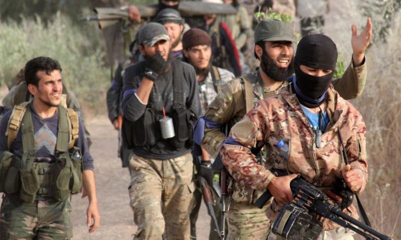 مقاتلين من حركة أحرار الشام في إدلب_(انترنت)