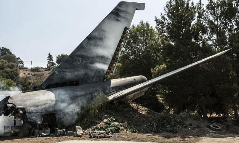 تحطم طائرة تقل لاعبي فريق شابيكوينسي البرازيلي - (انترنت)
