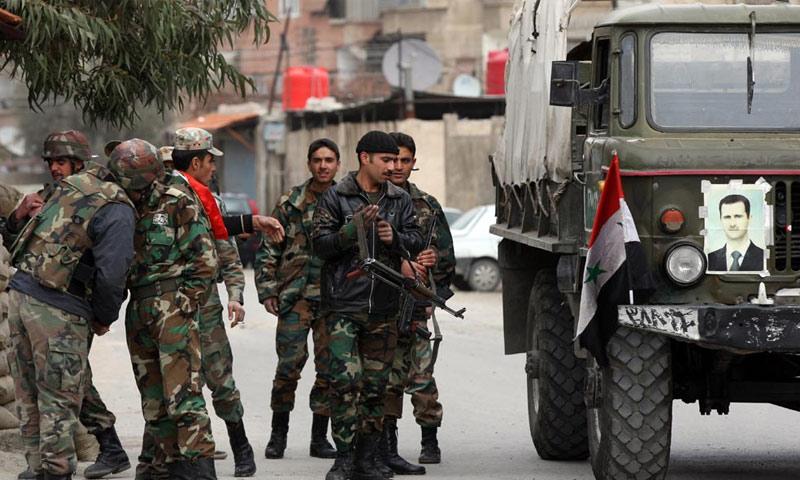 عناصر من قوات النظام السوري (انترنت)