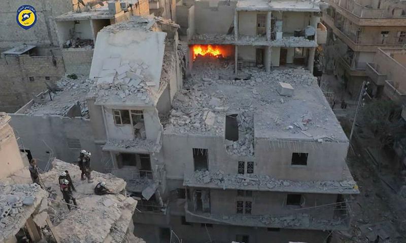 القصف على الأحياء الشرقية من حلب_23 تشرين الثاني_(الدفاع المدني)