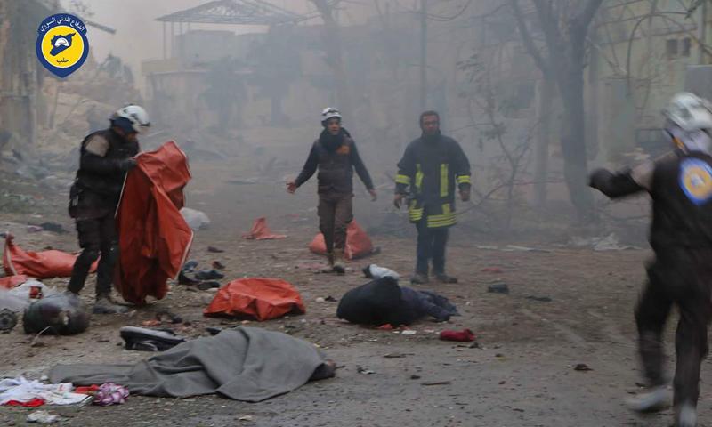 مجزرة حي جب القبة في حلب_30 تشرين الثاني_(الدفاع المدني)