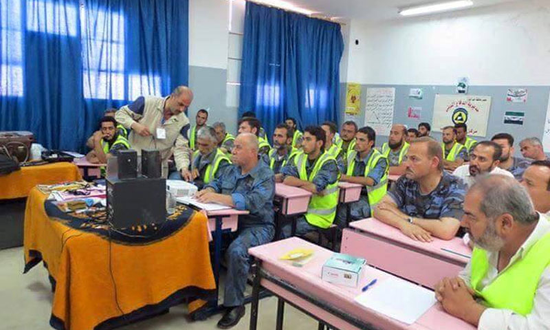 دورات تدريبية لسلك الشرطة والأمن في مدينة جرابلس (المجلس المحلي لمدينة جرابلس فيس بوك)