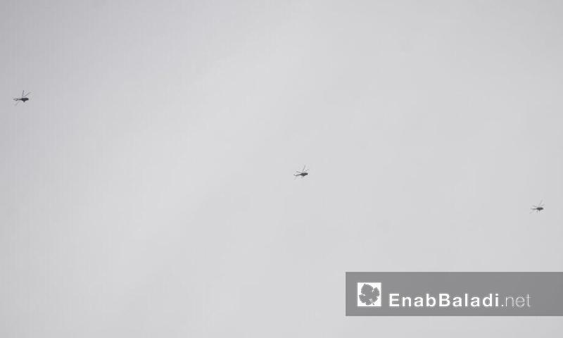 ثلاث طائرات حربية من أصل خمس في أجواء مدينة حلب الأربعاء 9 تشرين الثاني (عنب بلدي)