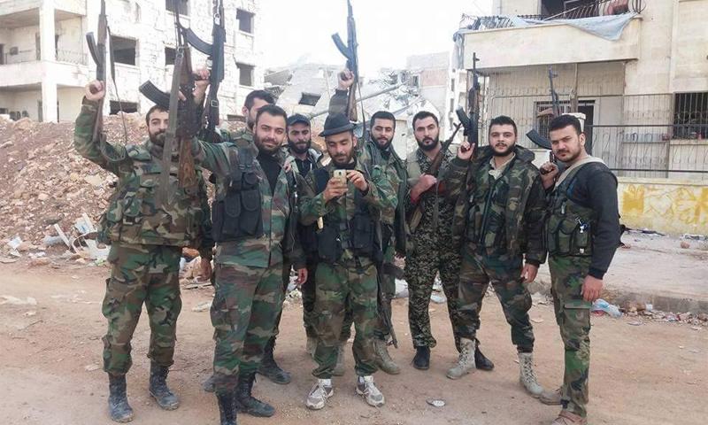 قوات الأسد داخل مشروع 1070 شقة في حلب - 8 تشرين الثاني 2016 (فيس بوك)