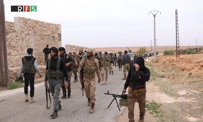 """عناصر من """"الجيش الحر"""" في محيط مدينة الباب- 14 تشرين الثاني (المكتب الإعلامي لقوى الثورة)"""