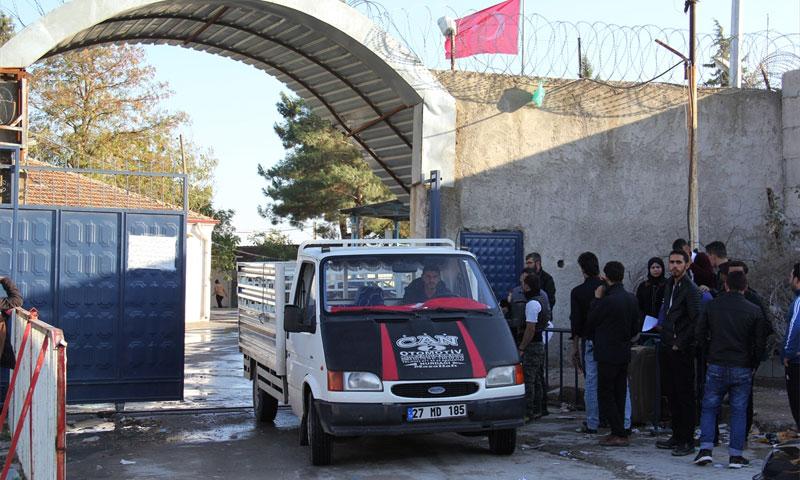 معبر جرابلس الحدودي (Karkamış) بين سوريا وتركيا (ensonhaber)