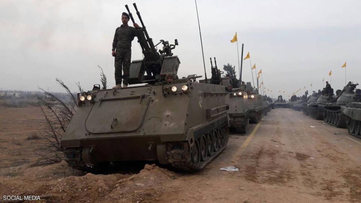 """جانب من استعراض """"حزب الله"""" اللبناني في مدينة القصير- 13 تشرين الثاني (فيس بوك)"""