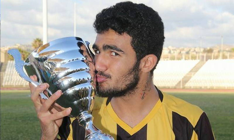 لاعب نادي العهد اللبناني، قاسم شمخة (صفحة النادي فيس بوك)