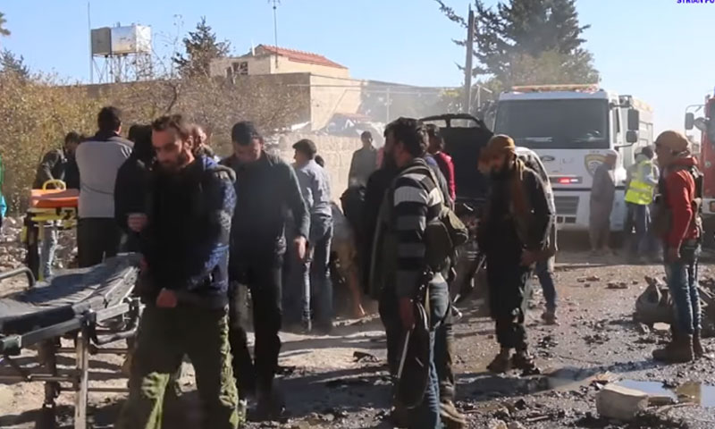 قتلى وجرحى في انفجار سيارة مفخخة في اعزاز- الخميس 17 تشرين الثاني (يوتيوب)