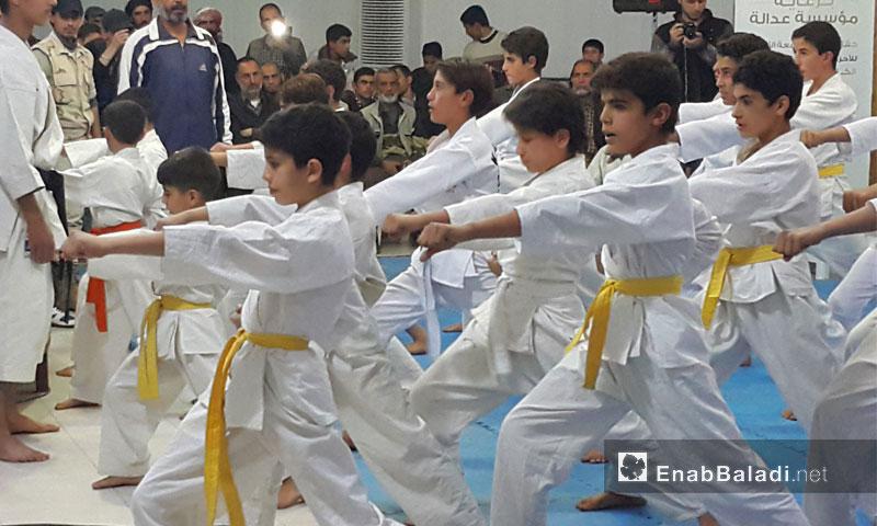 من حفل تكريم الأطفال الرياضيين في نادي دوما الرياضي - 5 تشرين الثاني (عنب بلدي)