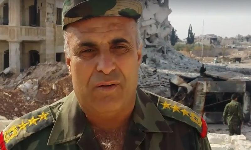 العميد الركن نبيل عبد الله- معاون رئيس اللجنة الأمنية والعسكرية في حلب (فيس بوك)