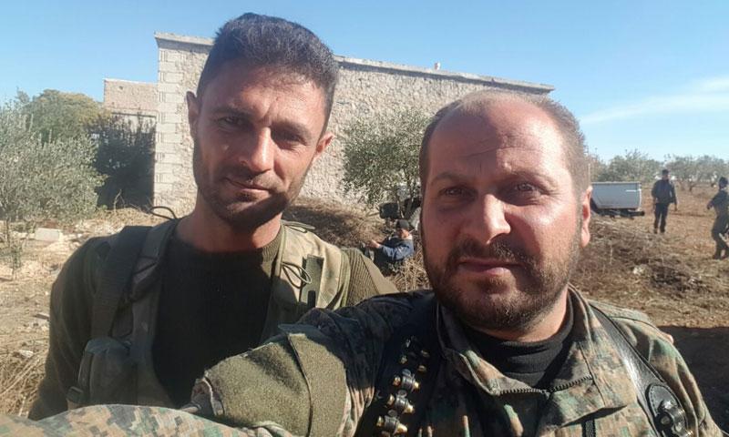 """عناصر من """"الجيش الحر"""" داخل بلدة قباسين- الأحد 20 تشرين الثاني (تويتر)"""