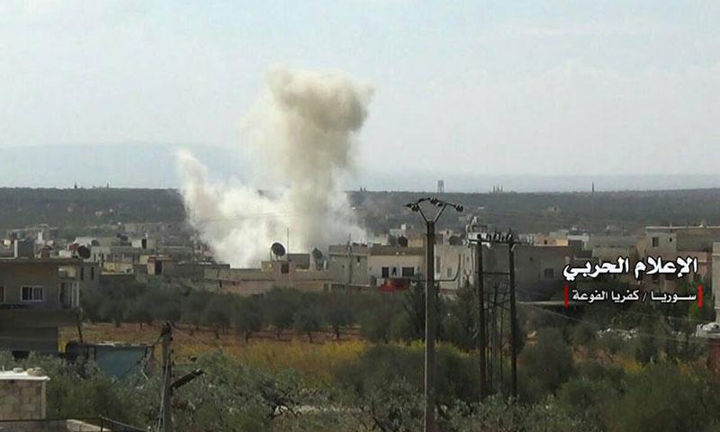 سقوط قذائف على بلدتي كفريا والفوعة- الاثنين 21 تشرين الثاني (فيس بوك)