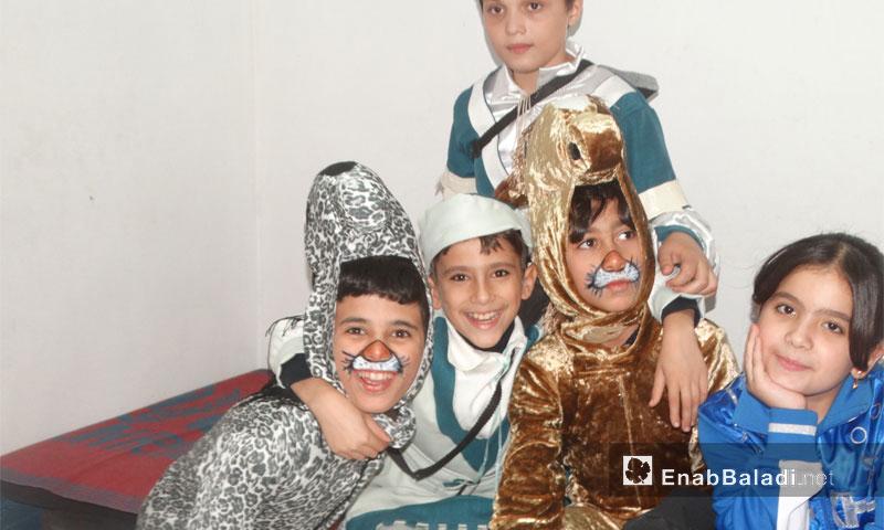 من الحفل الترفيهي لنادي بسمة نور في حي الوعر بحمص - السبت 12 تشرين الثاني (عنب بلدي)
