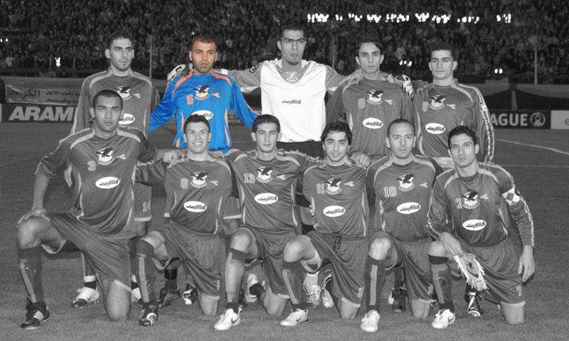 جهاد قصاب لاعب المنتخب السوري ونادي الكرامة في تشكيلة الفريق عام 2006 (إنترنت)