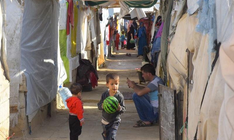 مخيم الريحانية للاجئين السوريين في سهل عكار (إنترنت)