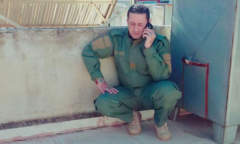 الإعلامي اللبناني حسين مرتضى خلال تغطية اشتباكات حلب- الخميس 3 تشرين الثاني (فيس بوك)