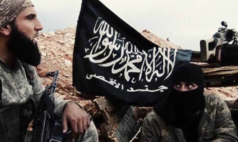 عناصر من فصيل جند الأقصى في سوريا_(انترنت)