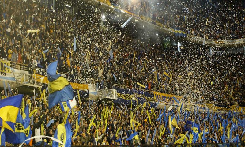 جماهير فريق بوكا جونيورز الأرجنتيني (انترنت)