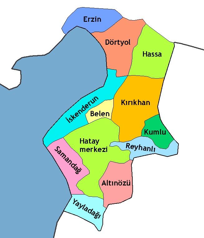 لواء اسكندرون شمال غرب سوريا.