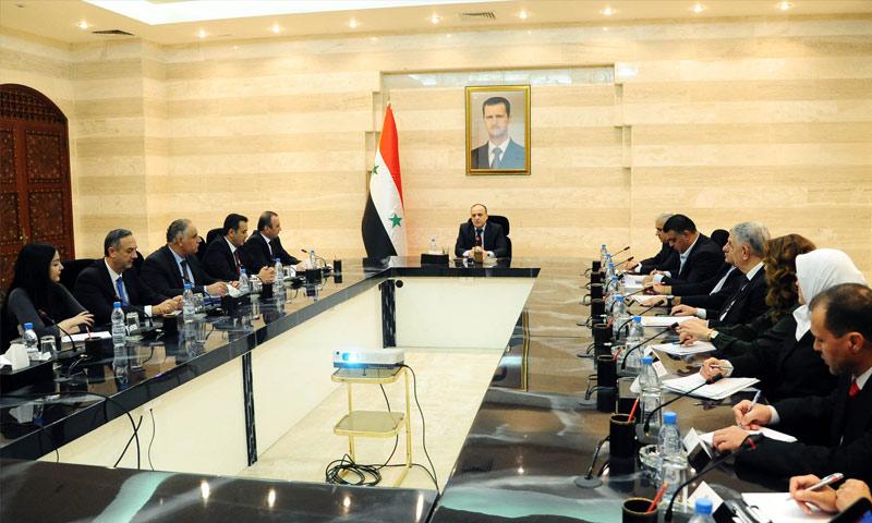حكومة النظام السوري برئاسة عماد خميس (انترنت)
