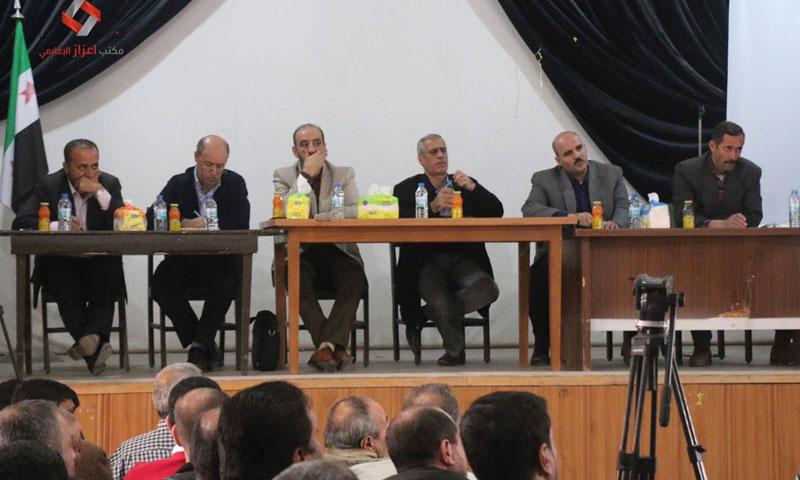 اجتماع الحكومة المؤقتة في مدينة إعزاز- الثلاثاء 8 تشرين الثاني (مكتب إعزاز الإعلامي)