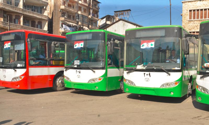 """باصات النقل الداخلي من نوع """"كينغ لونغ"""" الصينية، دمشق (إنترنت)"""