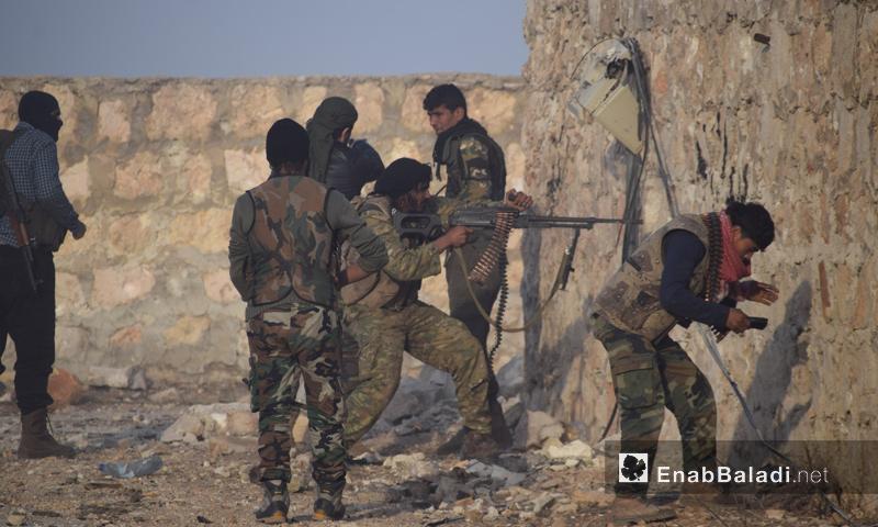 عناصر من قوات المعارضة في حي العويجة بحلب_13 تشرين الثاني_(عنب بلدي)