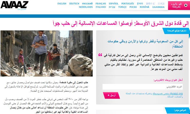 صورة من صفحة الحملة - 8 كانون الأول (موقع آفاز)