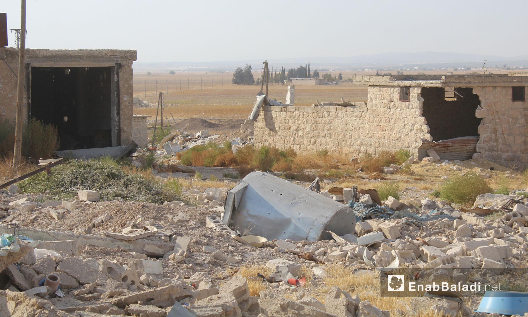 آثار الدمار الذي لحق بقرية الطوقلي في ريف حلب الشمالي - 11 كانون الأول 2016 (عنب بلدي)