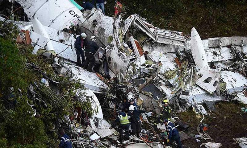 حطام الطائرة الكولومبية- 29 تشرين الثاني (cnn)