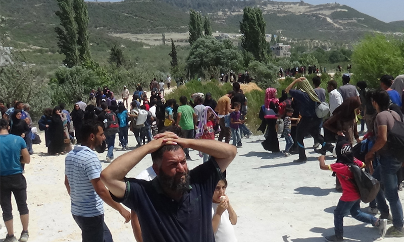 النازحين في قرية خربة الجوز بريف ادلب الغربي الصور