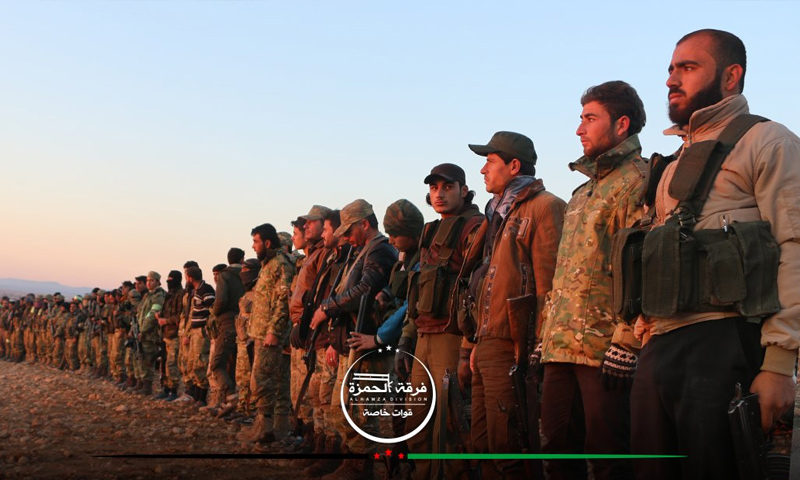 مقاتلو المعارضة قرب مدينة الباب شمال حلب - 9 كانون الأول (فرقة الحمزة)