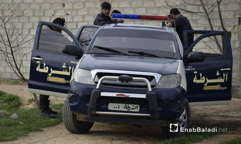 ضابطة من الشرطة الحرة في ريف دمشق - آذار 2016 (عنب بلدي)