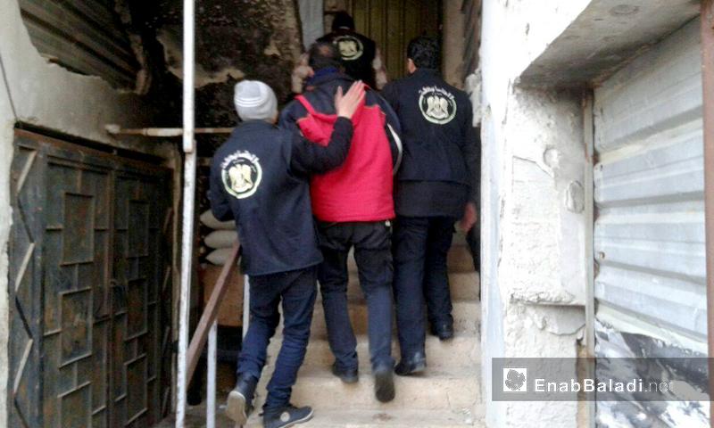 عناصر الضابطة العدلية في مجلس محافظة حمص - كانون الأول 2016 (عنب بلدي)