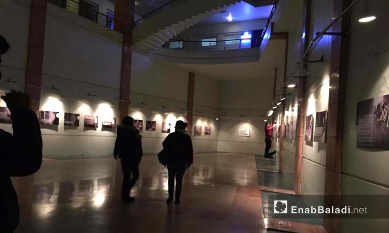 من تجهيزات المعرض في مدينة غازي عنتاب التركية - 27 كانون الأول 2016 (عنب بلدي)