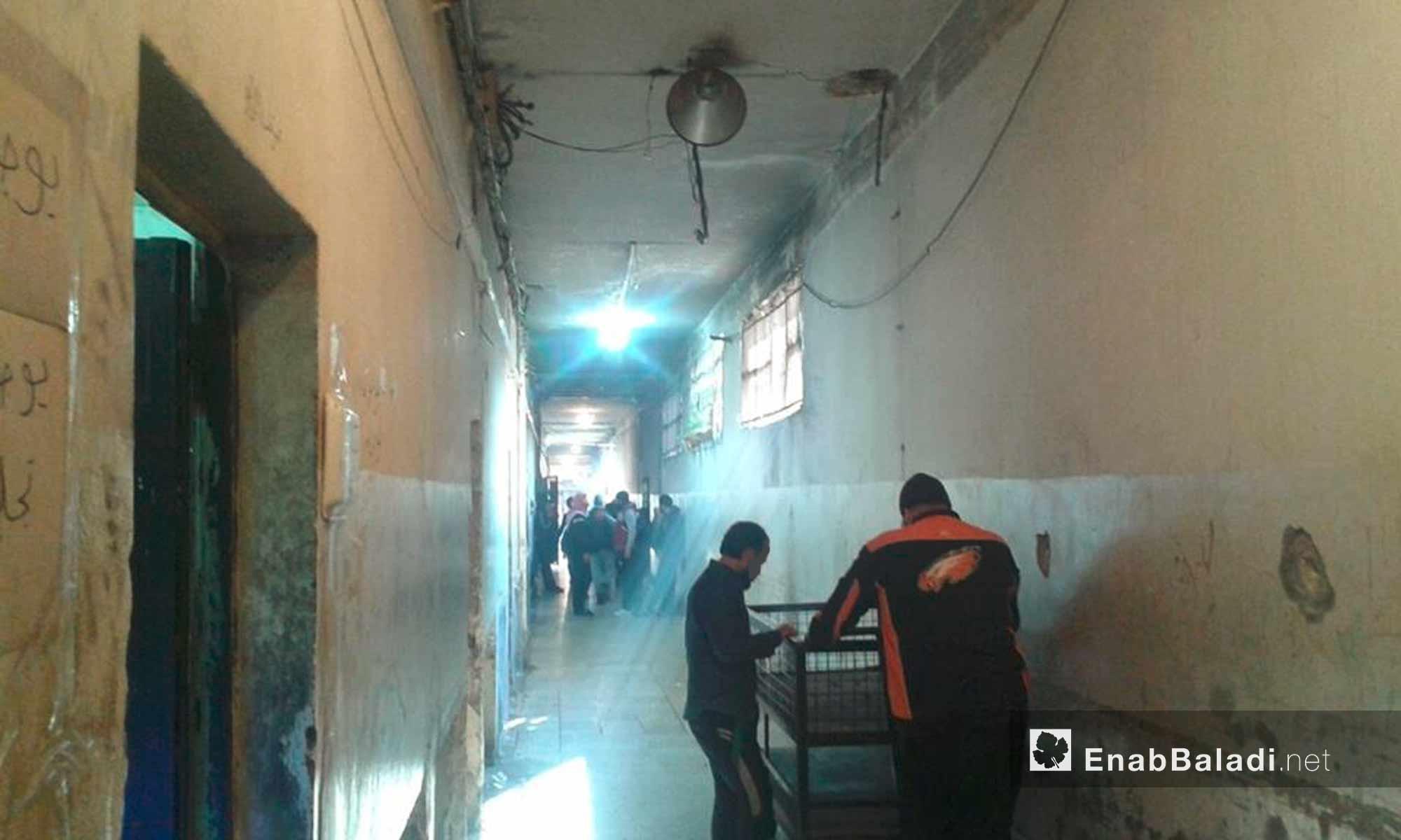 من داخل مبنى سجن حماة المركزي - 4 كانون الأول 2016 (عنب بلدي)